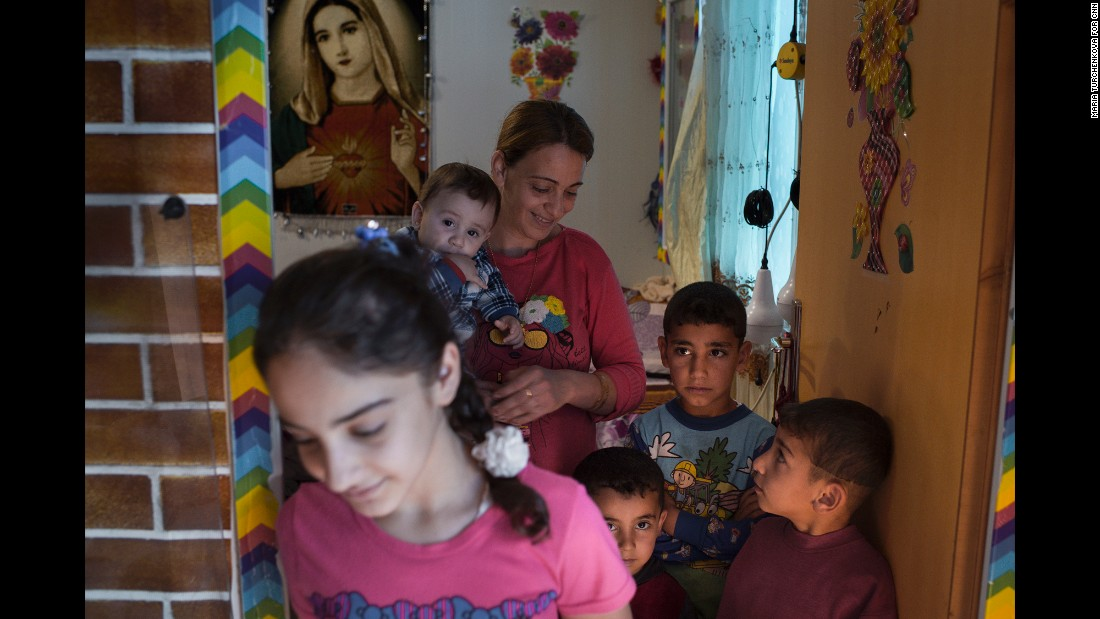 Ashti camp is full of displaced families with many young children.