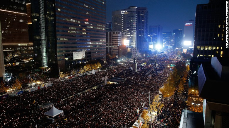 South Korean protesters find inspiration in K-pop