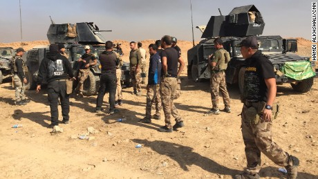 "Soldiers from the Kirkuk regiment yelled: ""We should fix our vehicles and go back to help our mates who might be still alive."""
