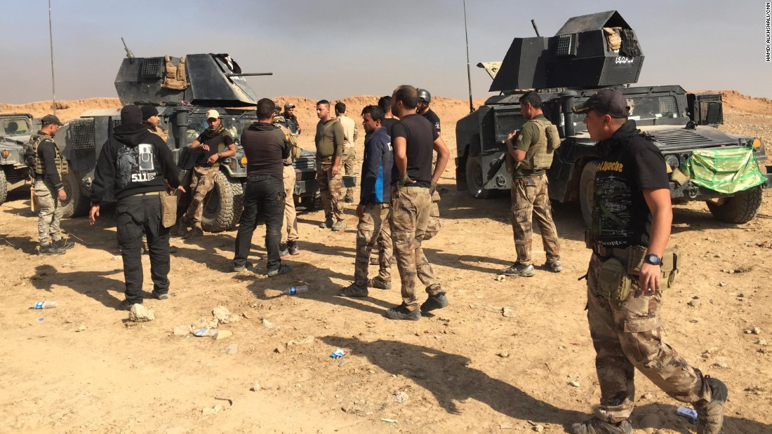 """Soldiers from the Kirkuk regiment yelled: """"We should fix our vehicles and go back to help our mates who might be still alive."""""""