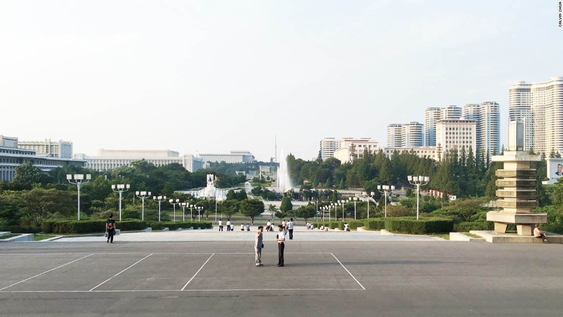 Even the views in Pyongyang have been carefully choreographed. From the entrance of the Grand People's Study House, one can see the Pyongyang TV tower and the Mansu Hill Grand Monument, flanked by the Mansudae Art Theatre, Mansudae Assembly Hall Museum of the Korean Revolution and the Pyongyang Students and Children's Palace.