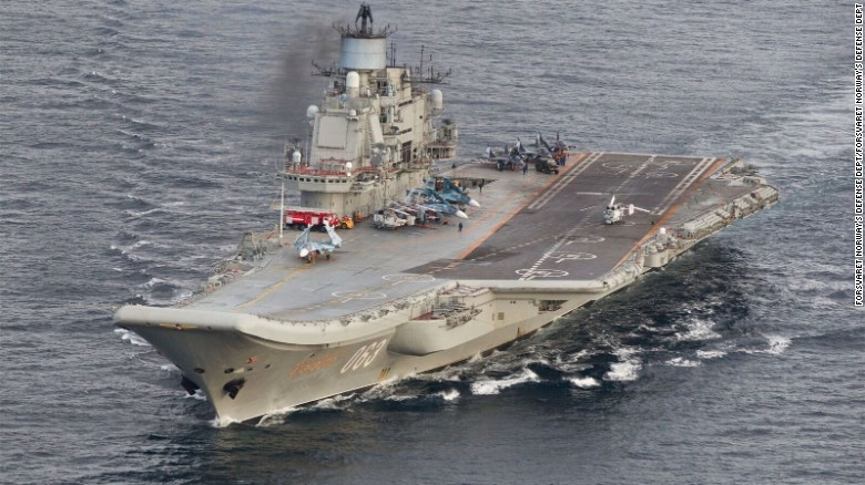 Russian flotilla deploys to Syrian coast