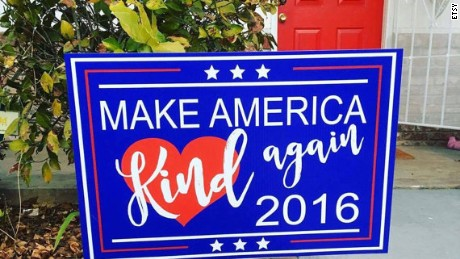 """""""Make America Kind Again"""" signs are popping up on house lawns across the country."""