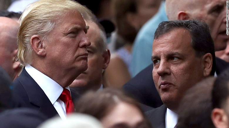 NEW YORK, NY - SEPTEMBER 11:  Republican presidental nominee Donald Trump (L) and New Jersey Gov. Chris Christie (R) attend the September 11 Commemoration Ceremony at the National September 11 Memorial & Museum on September 11, 2016 in New York City. Hillary Clinton and Donald Trump attended the September 11 Commemoration Ceremony.  (Photo by Justin Sullivan/Getty Images)