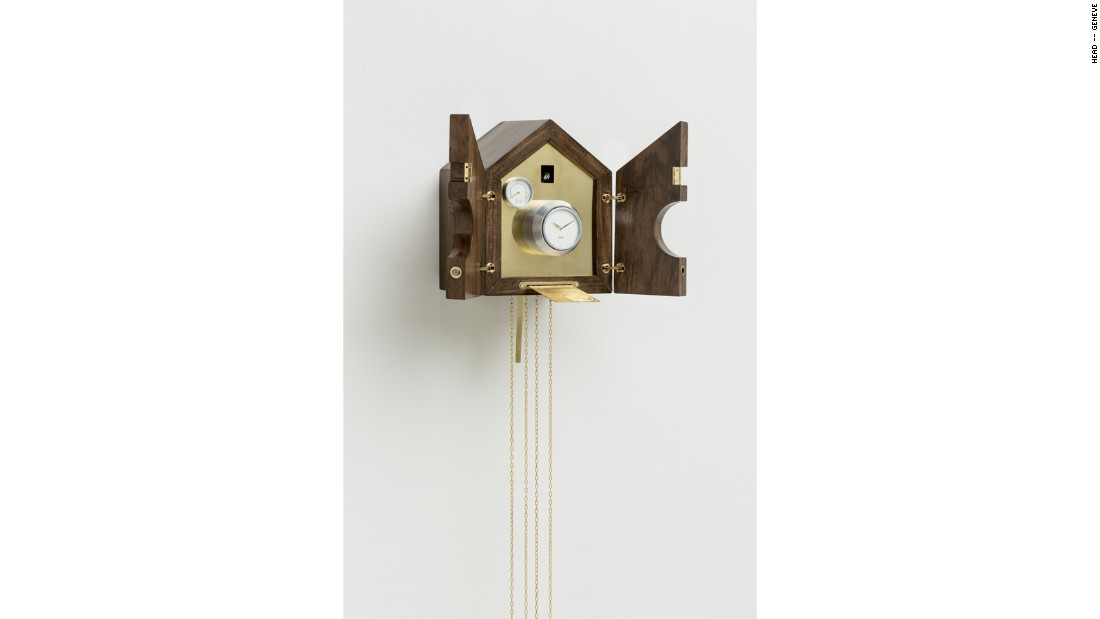 Talk about a statement: the cuckoo clocks hides a bank safe, a reference to the ongoing debate around the Swiss banking industry.