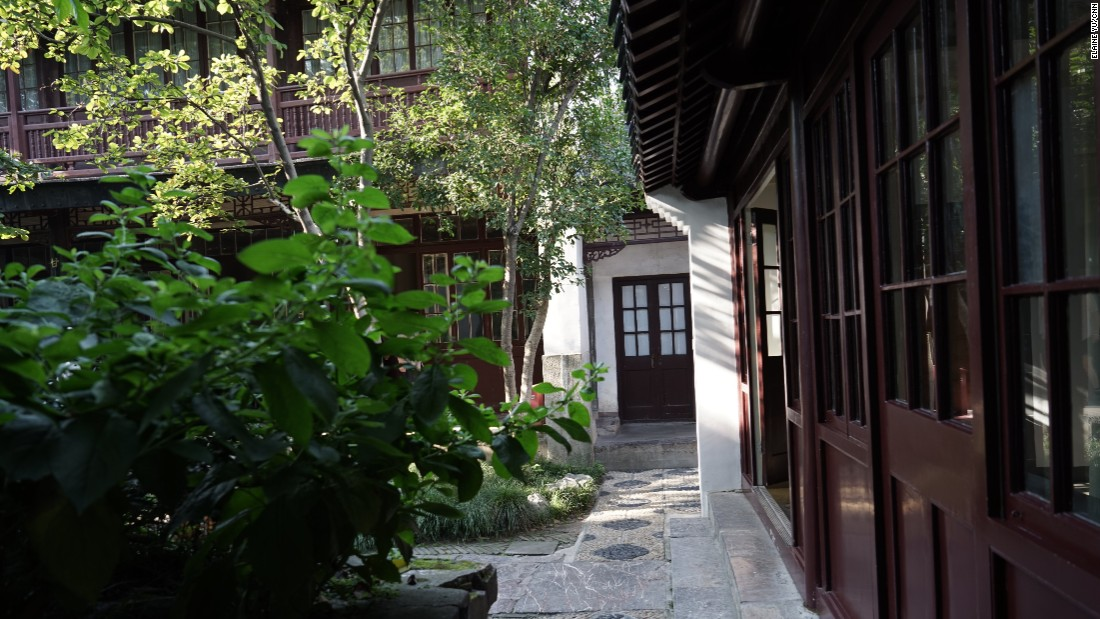 The courtyard outside Sun Yat-sen's bedroom, pictured here, is beautiful but understated.  November 12, 2016 was the 150th anniversary of his birth.