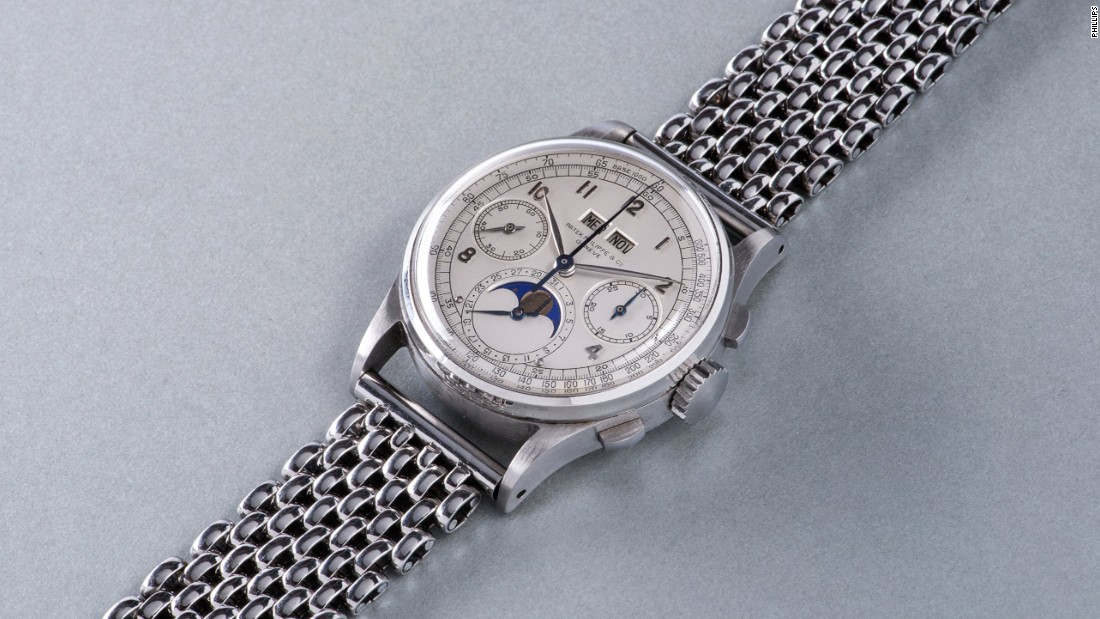 The Phillips in Association with Bacs & Russo Geneva Watch Auction: Four sale was held in Geneva, Switzerland on November 12 and 13, 2016. A stainless steel Patek Philippe reference 1518 was the auction's top lot and set a new world record for the most expensive wristwatch ever to sell at auction.
