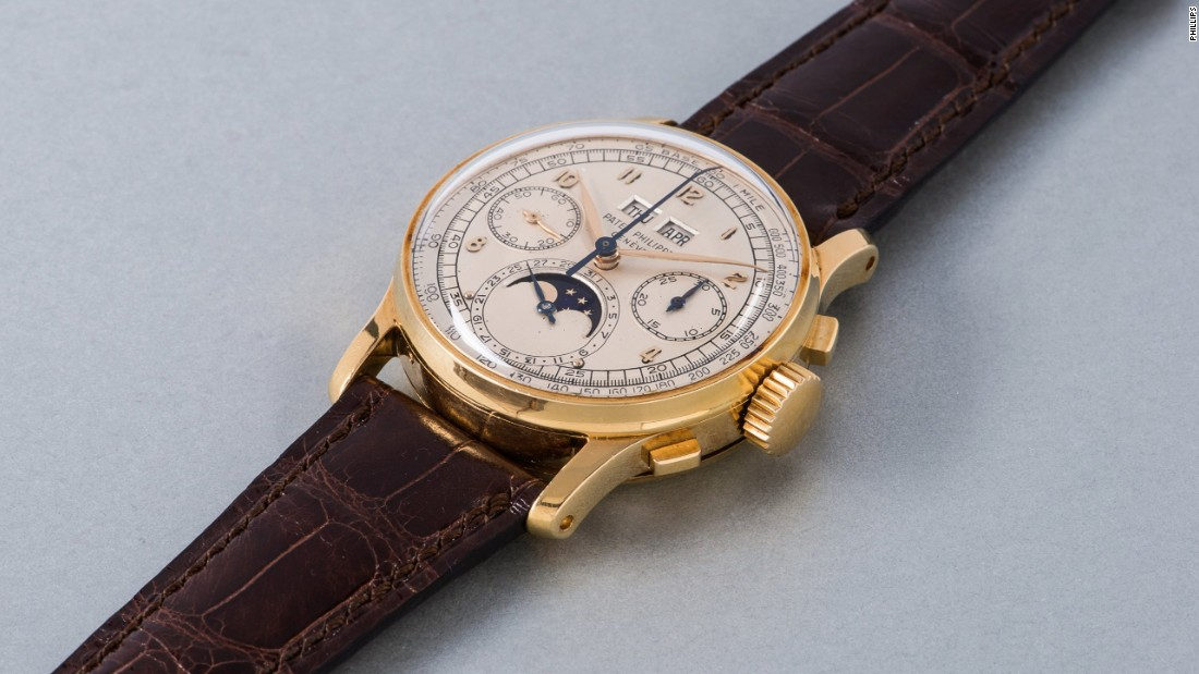 Patek Philippe watches proved popular at the auction and this perpetual calendar chronograph sold for $603,980 (CHF 598,000).