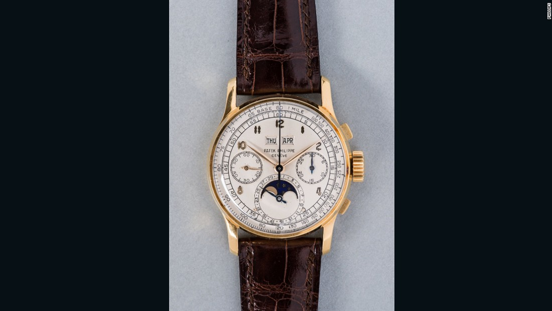 The yellow gold chronograph watch far exceeded its pre-sale estimate of CHF 250,000 - 500,000.