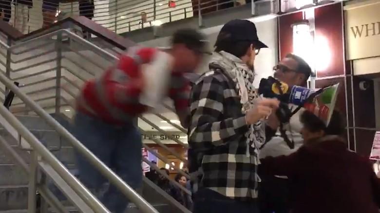 Anti-Trump protester tackled at OSU