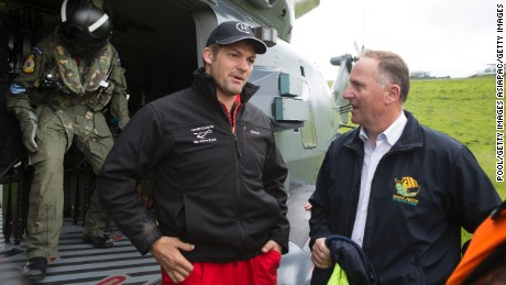 Former All Black captain Richie McCaw provided helicopter support to victims of the earthquake that struck Kaikoura, New Zealand, earlier this week.