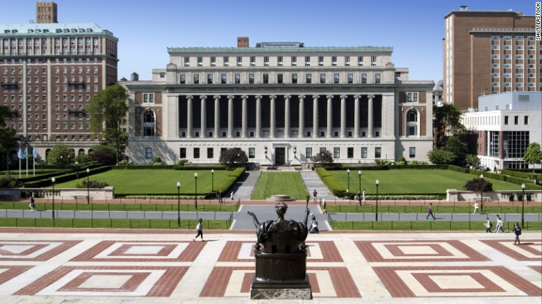 The Columbia campus. The alleged messages were captured on screengrabs and published on a student-run website.