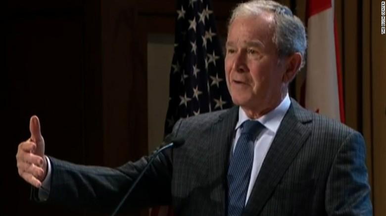 George W. Bush laments role of 'anger' in politics ... George Bush