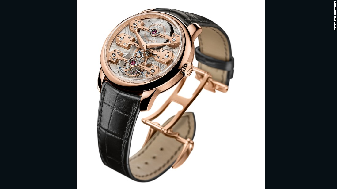 The Tourbillon Watch Prize 2016 was won by the Esmeralda Tourbillon from Girard-Perregaux. The pink gold time piece is inspired by the Tourbillon with Three Gold Bridges pocket chronometer that won the gold medal at the Universal Exhibition in Paris in 1889.