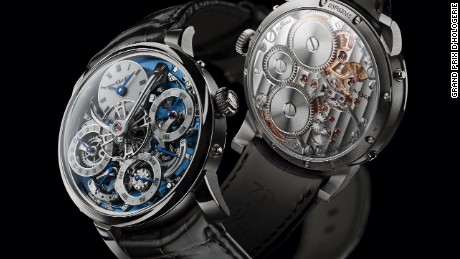 The Legacy Machine Perpetual by MB&F took out the Calendar Watch Prize for 2016 for its in-house perpetual calendar. Designed in conjunction with Irish watchmaker Stephen McDonnell, the platinum watch sells for around $181,000 (CHF 181,500) and is limited to just 25 editions.