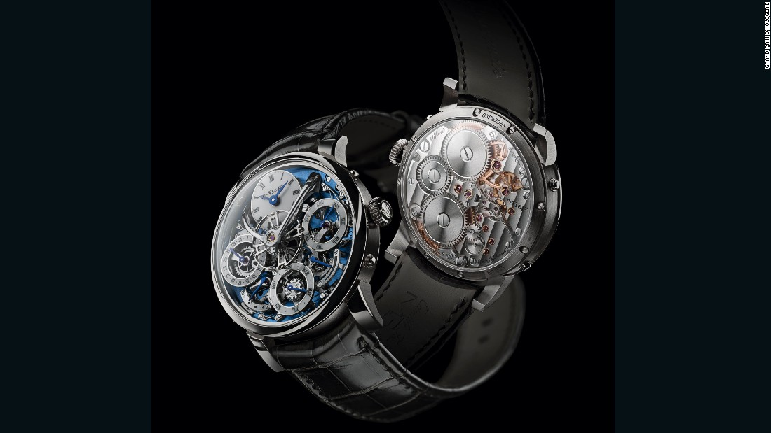 The Legacy Machine Perpetual by MB&F took out the Calendar Watch Prize for 2016 for its in-house perpetual calendar. Designed in conjunction with Irish watchmaker Stephen McDonnell, the platinum watch sells for around $181,000, and is limited to just 25 editions.