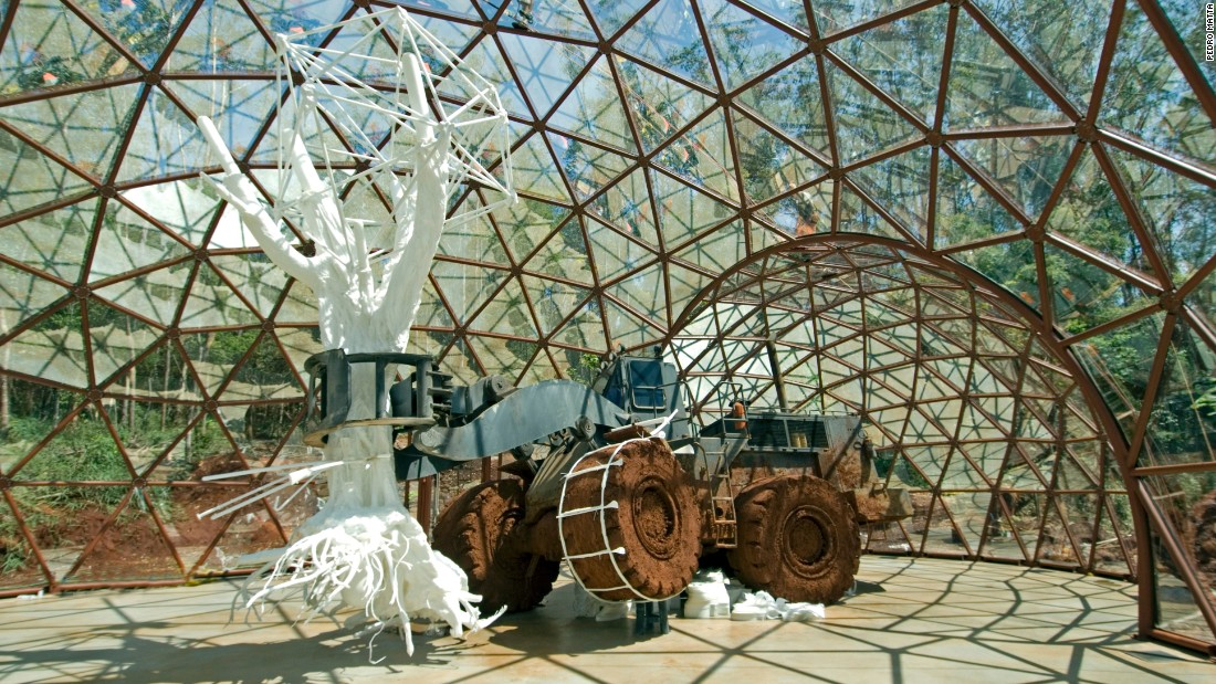 "The dome is among numerous standalone spaces dedicated to the work of a single artist. ""Along Inhotim's paths are different experiences that accumulate in their own unique ways,"" says curator Allan Schwartzman."