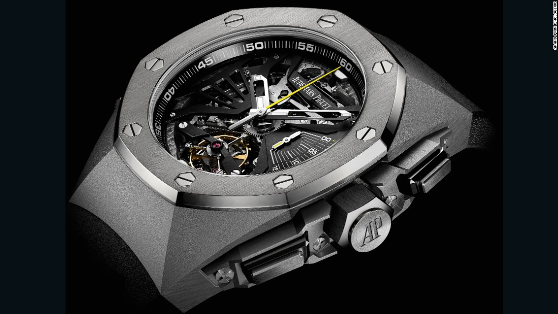 The 2016 prize for the Mechanical Exception Watch went to the Royal Oak Concept Supersonnerie from Audemars Piguet. The titanium and ceramic, minute repeater wristwatch chimes the hours and quarter hours, and sells for more than $560,000.