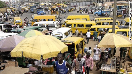 Lagos is known for its notorious traffic.