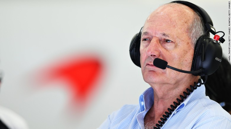 Ron Dennis in the garage during practice for the 2016 Bahrain F1 Grand Prix.