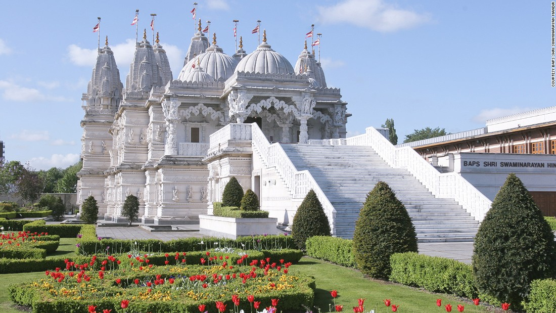 "<a href=""http://londonmandir.baps.org"" target=""_blank"">Neasden Temple </a>was built in the 1990s from Italian Carrara marble and Bulgarian limestone, shipped to India and then hand-carved by a team of 1,526 sculptors. At the time of building, it was the largest Hindu temple outside of India."