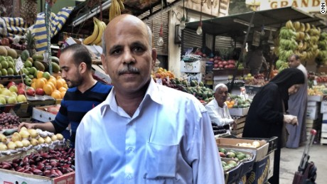 "Gamal Gharbawy works as a messenger and has two children. ""The price of everything we used to buy has doubled. Where can people get this money from?"""