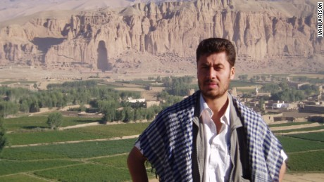 Najib Sharifi pictured in September 2005 when he worked with Ivan Watson as a translator in Bamiyan, Afghanistan.