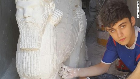 Teen hits back at ISIS by sculpting Nimrud's ruined artifacts