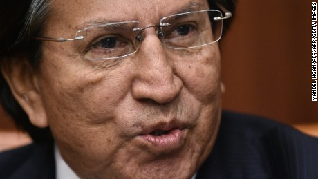 Former president of Peru Alejandro Toledo speaks during a discussion on Venezuela and the OAS at The Center for Strategic and International Studies (CSIS) on June 17, 2016 in Washington, DC. / AFP / Mandel NGAN        (Photo credit should read MANDEL NGAN/AFP/Getty Images)