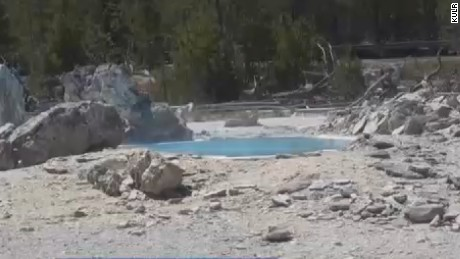 A man's body was dissolved in a spring at Yellowstone National Park.