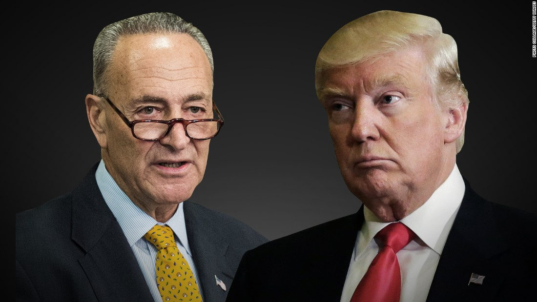 Image result for schumer/trump
