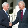 Vice Presidents Biden and Pence