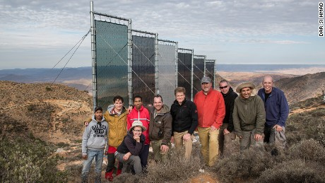 The German and Moroccan team behind the fog-catching project.