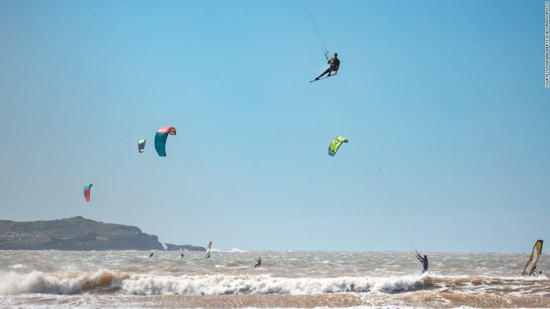 Like this kitesurfer, Essaouira is on the up.