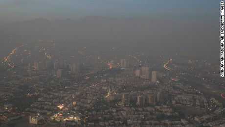 A view of smog-enveloped Tehran on November 14, 2016.