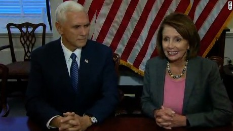 mike pence nancy pelosi meet