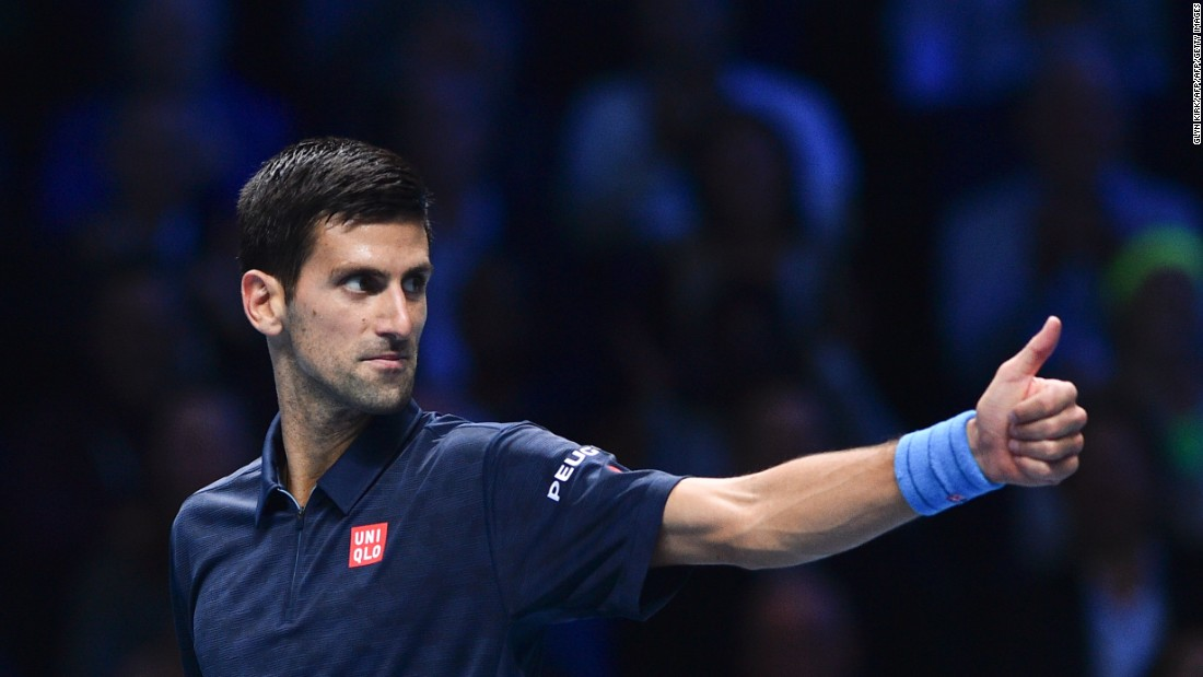 Five-time ATP Finals champion Novak Djokovic needed just 69 minutes to beat Belgium's David Goffin in an error-strewn affair at London's 02 Arena.