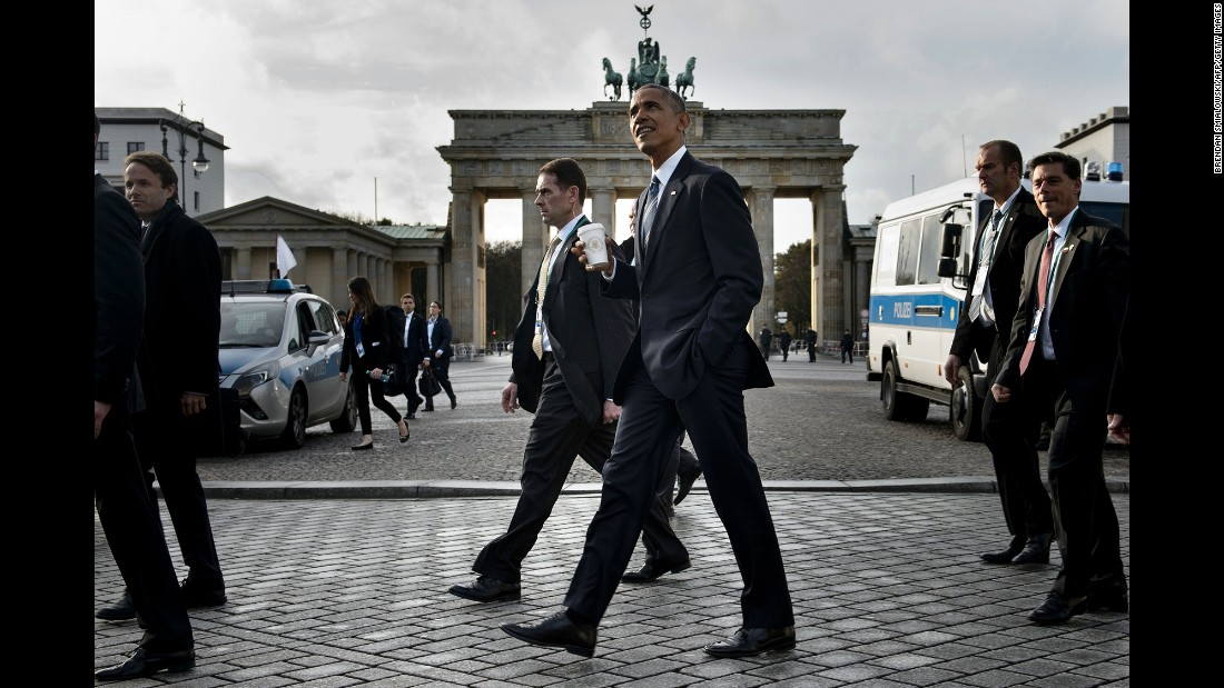 "US President Barack Obama walks past the Brandenburg Gate after visiting the US Embassy in Berlin on Thursday, November 17. Obama is making <a href=""http://www.cnn.com/2016/11/15/us/gallery/obamas-final-trip/index.html"" target=""_blank"">his last international trip</a> as President, visiting Germany, Greece and Peru."