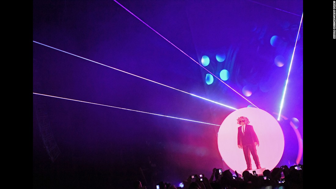 Neil Tennant of the Pet Shop Boys performs in New York on Saturday, November 12.