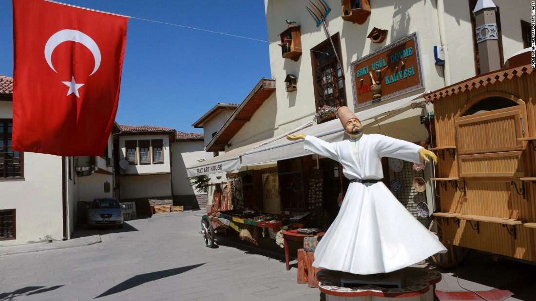 Dervish souvenirs are promoted intensively during the festival, although the Mevlevi Order has been banned in Turkey since 1923. <br /><br />The state allows public whirling performances on the basis that they are cultural rather than religious displays.
