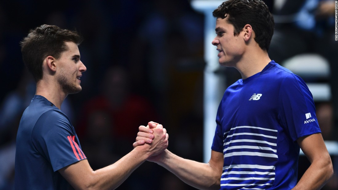 It paid off. Thiem might have won more matches from a set down than any other player this season, but Raonic ultimately took the second quite comfortably. With victory here, he becomes the first Canadian in history to reach the semifinals of this competition. Bring on Saturday. 7-6 (7-5), 6-3