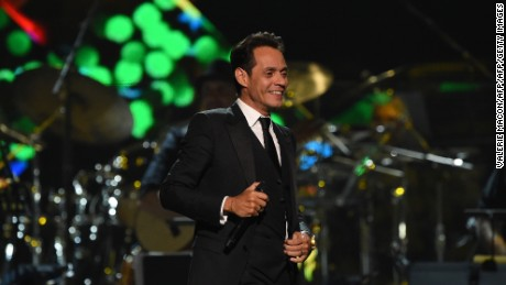 Singer Marc Anthony  performs during the show for the 2016 Latin GRAMMY's Person Of The Year honoring Marc Anthony at the MGM Grand on November 16, 2016 in Las Vegas, Nevada.  / AFP / Valerie MACON        (Photo credit should read VALERIE MACON/AFP/Getty Images)