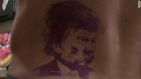 man lose bet gets trump tattoo