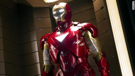 Robert Downey Jr. as Iron Man in The Avengers.