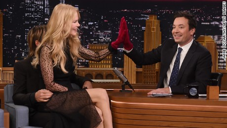 """Keith Urban, Nicole Kidman and host Jimmy Fallon during a segment on """"The Tonight Show Starring Jimmy Fallon"""" on November 16 in New York City."""