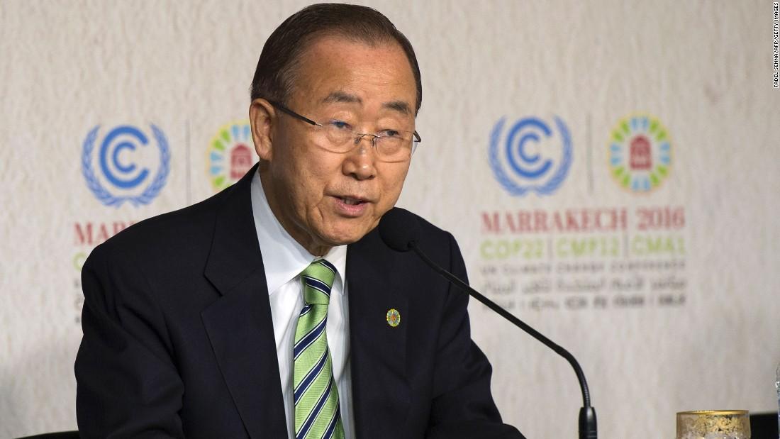 Trump should work for humanity' says Ban Ki-moon ...