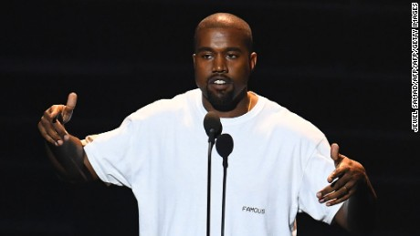 Kanye West offered his thoughts on race Thursday night at his concert.