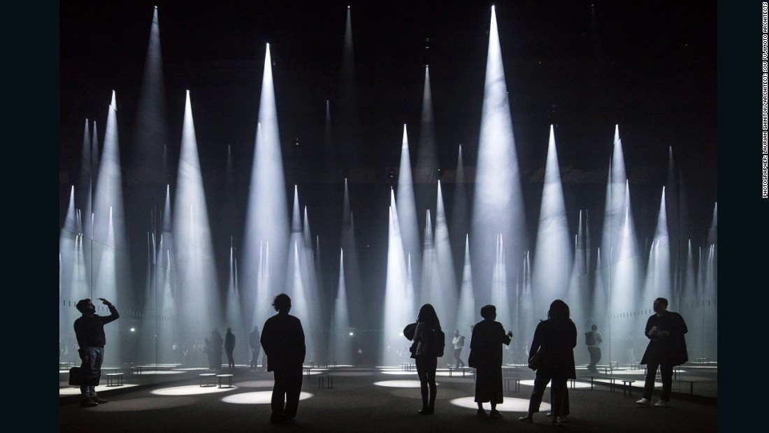 "This light installation, designed by Japanese architect Sou Fujimoto,  responds to visitors' movements and was photographed by German photographer <a href=""http://www.laurianghinitoiu.com/"" target=""_blank"">Laurian Ghinitoiu</a>. A good architectural photo ""where possible, shows how people interact with a building and demonstrates the social purpose of architecture,"" says Arcaid Images award judge, Emily Booth."