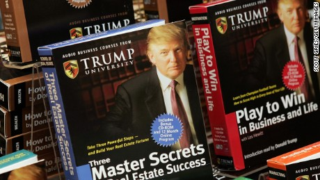 "NEW YORK - JANUARY 10:  Copies of ""How To Build Wealth,"" which is a series of nine audio business courses created by Trump University, lie on display at a Barnes & Noble store January 10, 2005 in New York City.  (Photo by Scott Gries/Getty Images)"