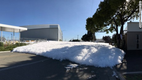 A malfunction at the Signature Flight Support hangar caused fire retarding foam to spill on to the near by streets.